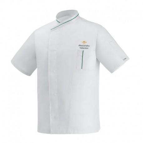 Giacca Cuoco White Eco Simbolo M/Corte