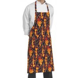 Grembiule Cuoco Pettorina Flames