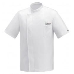 Giacca Cuoco White Air Plus Chef Italia M/Corte