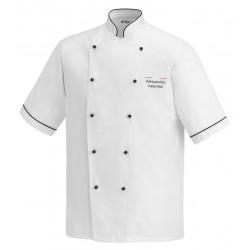 Giacca Cuoco Lino Microfibra Chef Italia M/Corte
