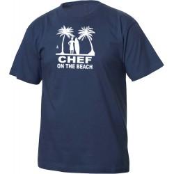 T-Shirt Chef On The Beach Blu