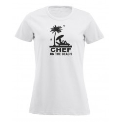 T-Shirt Donna Chef On The Beach Bianca