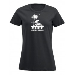 T-Shirt Donna Chef On The Beach Nera