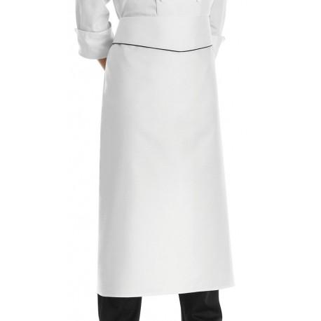 Grembiule Cuoco Vita con Balza Profilo nero