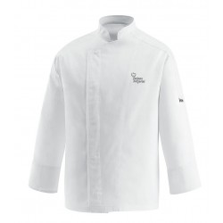 Giacca Cuoco All White Satin Chef per Passione