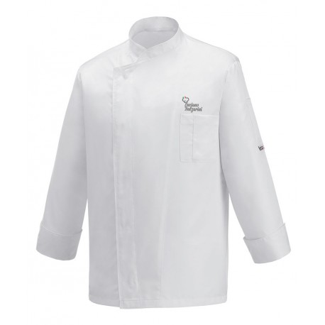 Giacca Cuoco Ottavio Bianca Microfibra Chef per Passione