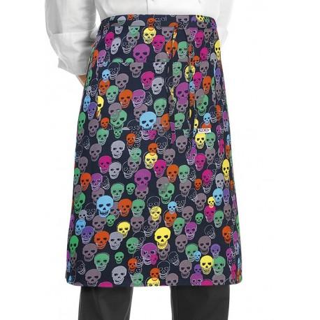 Grembiule Cuoco Vita Color Skulls