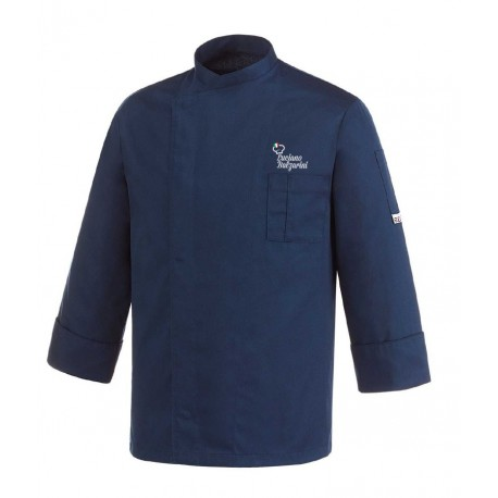 Giacca Cuoco Lorenzo Blu Chef per Passione
