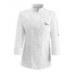 Giacca Cuoco Donna Microfibra Bianca Chef per Passione