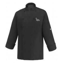 Giacca Cuoco Microfibra Nera Chef per Passione