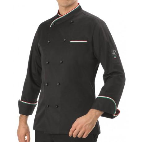 Giacca Cuoco Italia Nera
