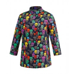 Giacca Cuoco Donna Color Skulls