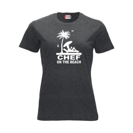 T-Shirt Donna Chef On The Beach Antracite Melange