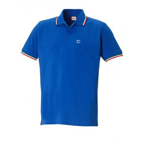 92e67f2d6a Polo Manica Corta Italia Azzurra