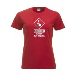 T-Shirt Donna Chef At Work Rossa