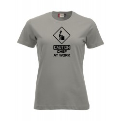 T-Shirt Donna Chef At Work Grigia