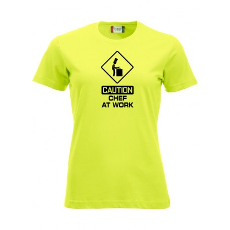 T-Shirt Donna Chef At Work Fluo