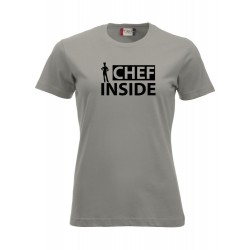 T-Shirt Donna Chef Inside Grigio Melange