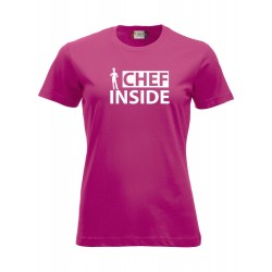 T-Shirt Donna Chef Inside Fuxia
