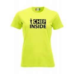 T-Shirt Donna Chef Inside Fluo