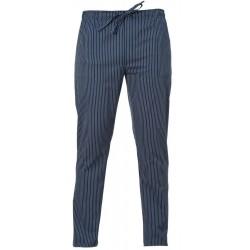 Pantalone Cuoco Enrico Gessato Blu
