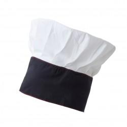Cappello Cuoco Stretch Bianco-Blu