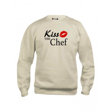 Felpa Girocollo Sabbia Kiss the Chef