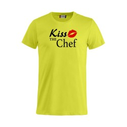 T-Shirt Fluo Kiss the Chef