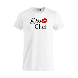 T-Shirt Bianca Kiss the Chef