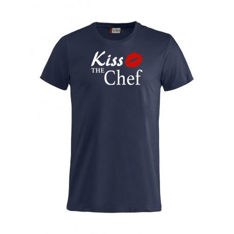 T-Shirt Blu Kiss the Chef