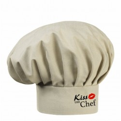 Cappello Cuoco Sabbia Melange Kiss The Chef