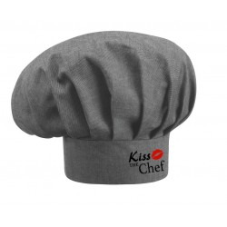 Cappello Cuoco Grigio Melange Kiss The Chef