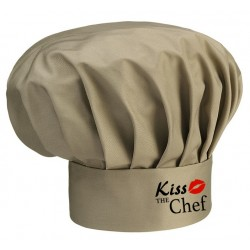 Cappello Cuoco Kaki Melange Kiss The Chef