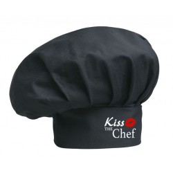 Cappello Cuoco Nero Kiss The Chef
