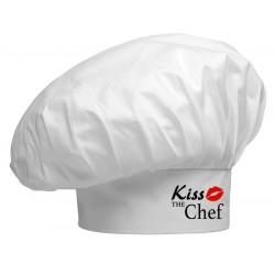 Cappello Cuoco Bianco Kiss The Chef
