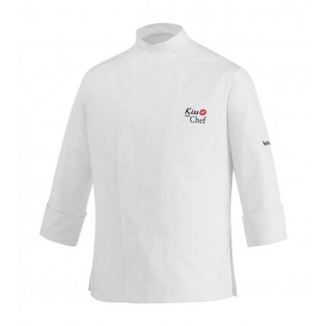 Giacca Cuoco Slim Bianca Microfibra Kiss The Chef