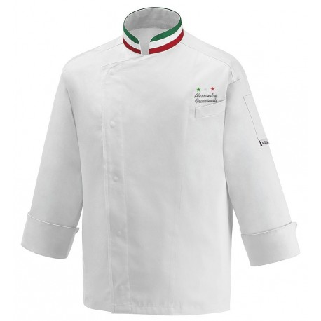 Giacca Cuoco Nation Satin Chef Stelle