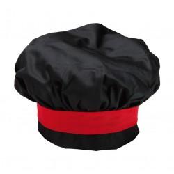 Cappello Cuoco Nero-Rosso