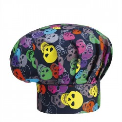 Cappello Cuoco Color Skulls