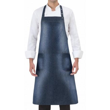 Grembiule Cuoco Pettorina Regolabile Jeans