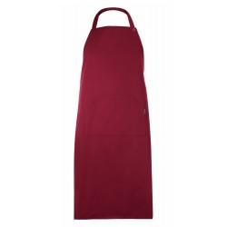 Grembiule Cuoco Pettorina Regolabile Bordeaux
