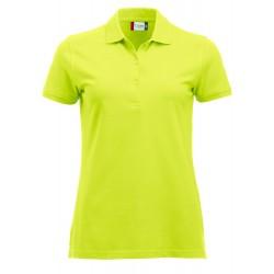 Polo Donna Manica Corta Verde Neon