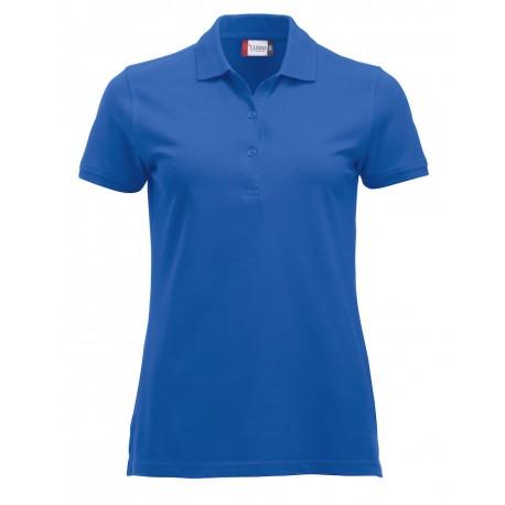 Polo Donna Manica Corta Azzurra