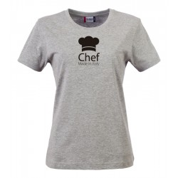 T-Shirt Donna Chef Made in Italy Grigia