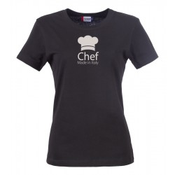 T-Shirt Donna Chef Made in Italy Nera