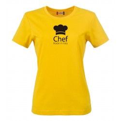 T-Shirt Donna Chef Made in Italy Gialla