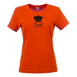 T-Shirt Donna Chef Made in Italy Arancio