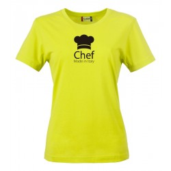 T-Shirt Donna Chef Made in Italy Fluo