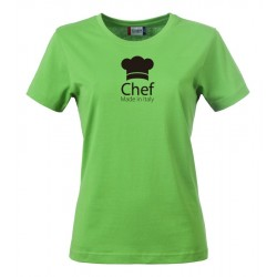 T-Shirt Donna Chef Made in Italy Verde