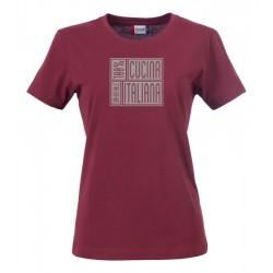 T-Shirt Donna 100% Cucina Italiana Bordeaux